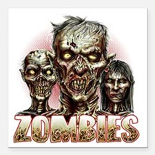 """zombies Square Car Magnet 3"""" x 3"""""""