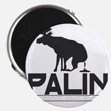 Palin Moose Dropped-b Magnet