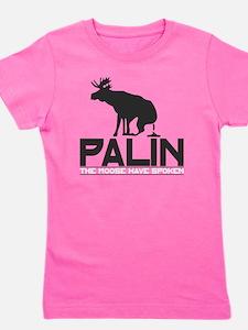 Palin Moose Dropped-b Girl's Tee