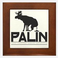 Palin Moose Dropped-b Framed Tile