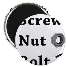 Screw Nut Bolt Black Magnet