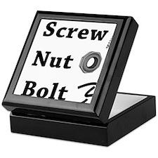Screw Nut Bolt Black Keepsake Box