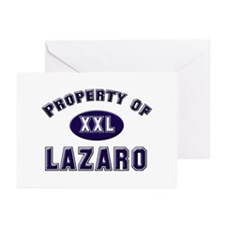 Property of lazaro Greeting Cards (Pk of 10)