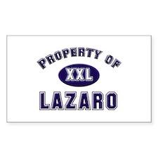 Property of lazaro Rectangle Decal