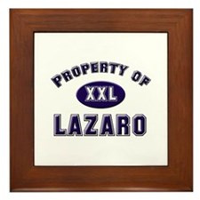 Property of lazaro Framed Tile