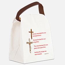 HealedByHisStripes Canvas Lunch Bag
