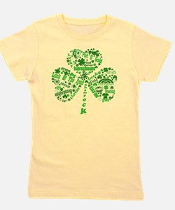 Irish Shamrock Girl's Tee
