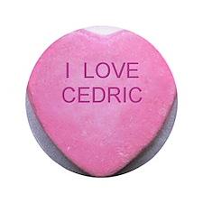 "HEART CEDRIC 3.5"" Button"