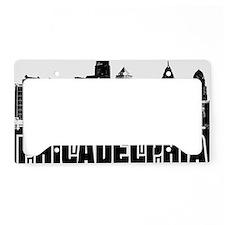 Philadelphia Skyline License Plate Holder