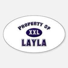 Property of layla Oval Decal