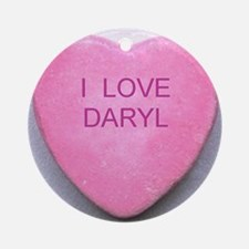 HEART DARYL Round Ornament