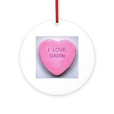HEART DAVIN Round Ornament