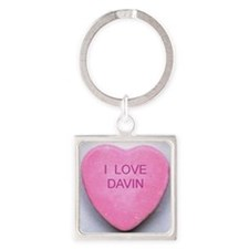 HEART DAVIN Square Keychain