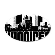 Winnipeg Skyline 35x21 Oval Wall Decal