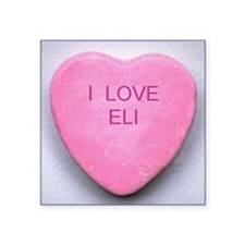 "HEART ELI Square Sticker 3"" x 3"""