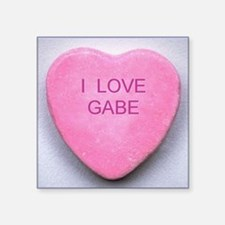 "HEART GABE Square Sticker 3"" x 3"""