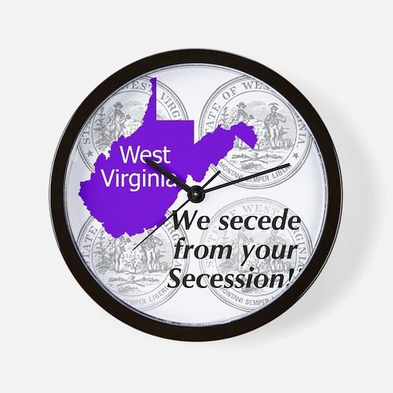 West Virginia Wall Clock