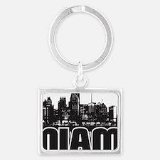 Miami Skyline Landscape Keychain