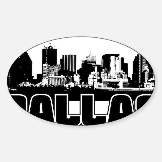 Dallas Skyline Sticker (Oval)