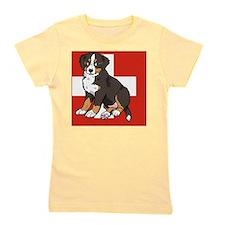 Sitting Bernese Mountain Dog Puppy (Swi Girl's Tee