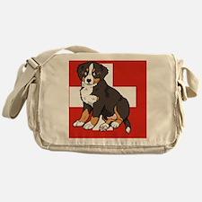 Sitting Bernese Mountain Dog Puppy ( Messenger Bag