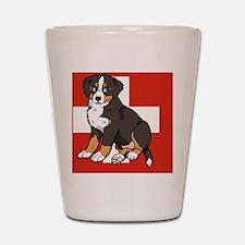 Sitting Bernese Mountain Dog Puppy (Swi Shot Glass