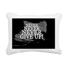 NEVER GIVE UP INVERT Rectangular Canvas Pillow