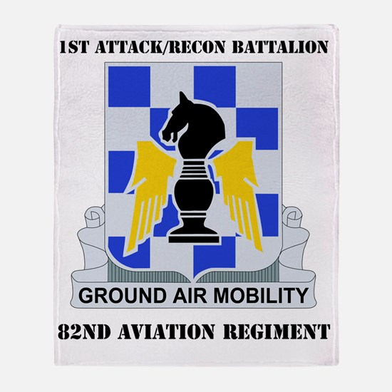 1-82ND AV RGT WITH TEXT Throw Blanket