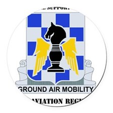 3-82ND AV RGT WITH TEXT Round Car Magnet