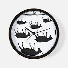 fainting goat Wall Clock