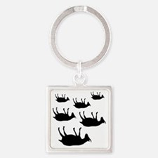 fainting goat_goats Square Keychain