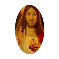 JESUS CHRIST NB CP  LorAnge Art Oval Car Magnet