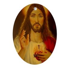 JESUS CHRIST NB CP  LorAnge Art Oval Ornament