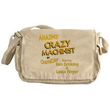 funny machinist Messenger Bag