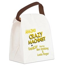 funny machinist Canvas Lunch Bag