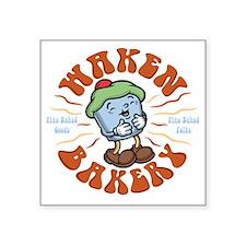 """waken-bakery-DKT Square Sticker 3"""" x 3"""""""