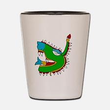 Aztec Glyph Alligator Cipactli Shot Glass