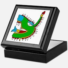 Aztec Glyph Alligator Cipactli Keepsake Box