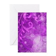 Bright Purple Floral (3G) Greeting Card