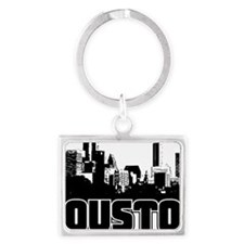 Houston Skyline Landscape Keychain