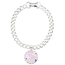 cancer cannot Charm Bracelet, One Charm