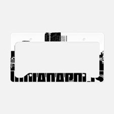 Indianapolis Skyline License Plate Holder