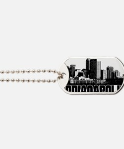 Indianapolis Skyline Dog Tags