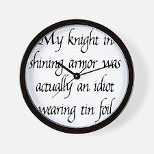knight1 Wall Clock
