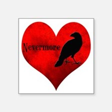 "HEART_Crow Square Sticker 3"" x 3"""