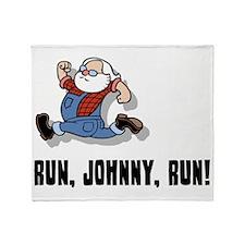 run-johnny-2-FLAT Throw Blanket