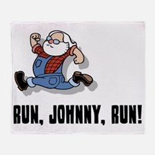 run-johnny-2-FLAT Throw Blanket