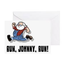 run-johnny-2-FLAT Greeting Card