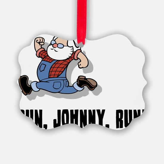 run-johnny-2-FLAT Ornament