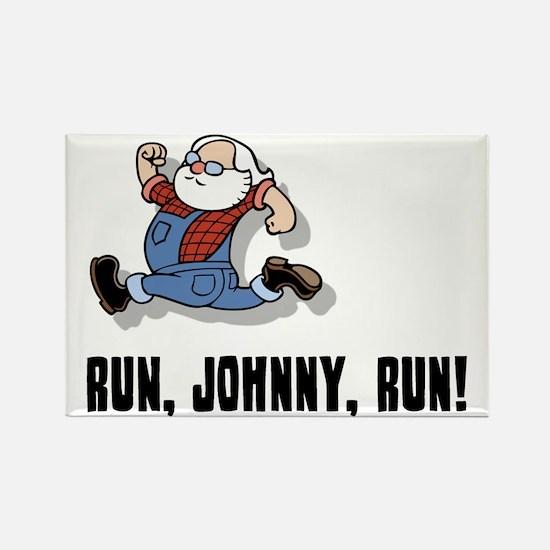 run-johnny-2-FLAT Rectangle Magnet